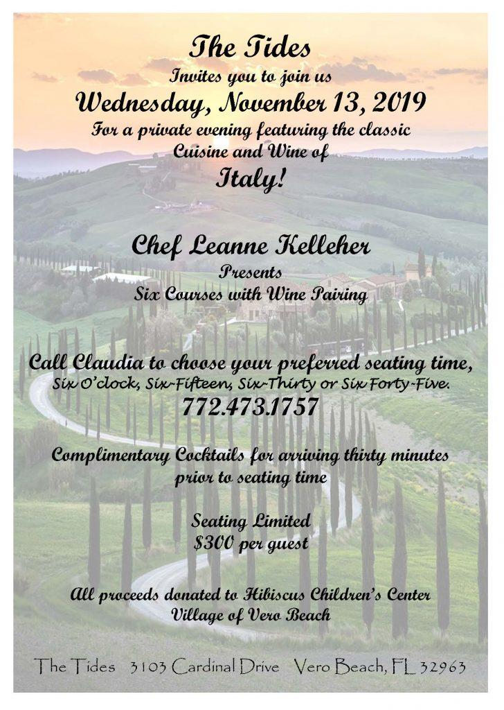 The Tides event invitation