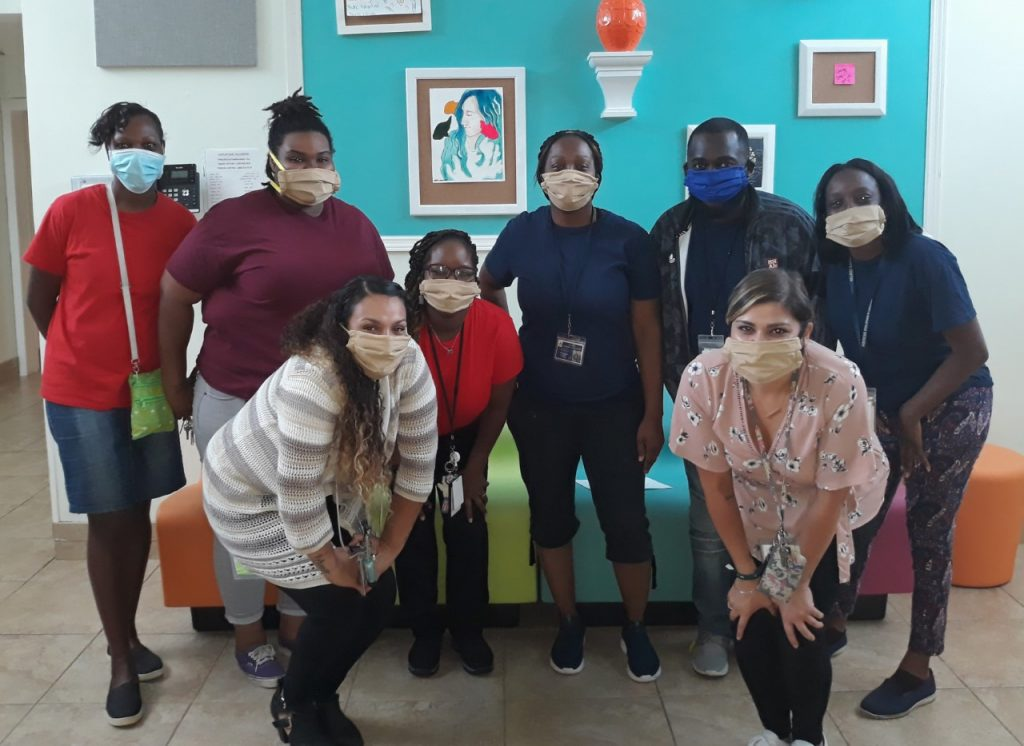 Hibiscus Shelter staff in masks