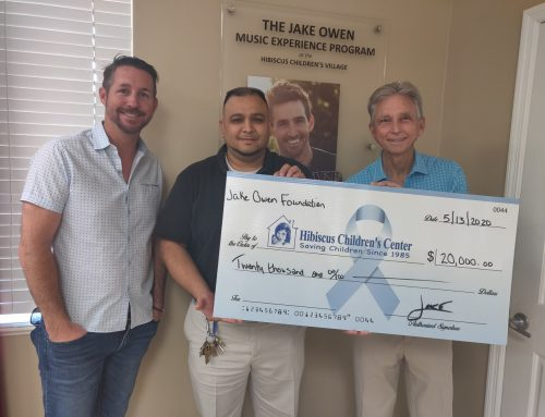 Hibiscus Children's Center Receives $20,000 Donation from Jake Owen Foundation