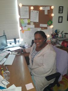 Sabrina Seme planning for next week's virtual school at Shelter