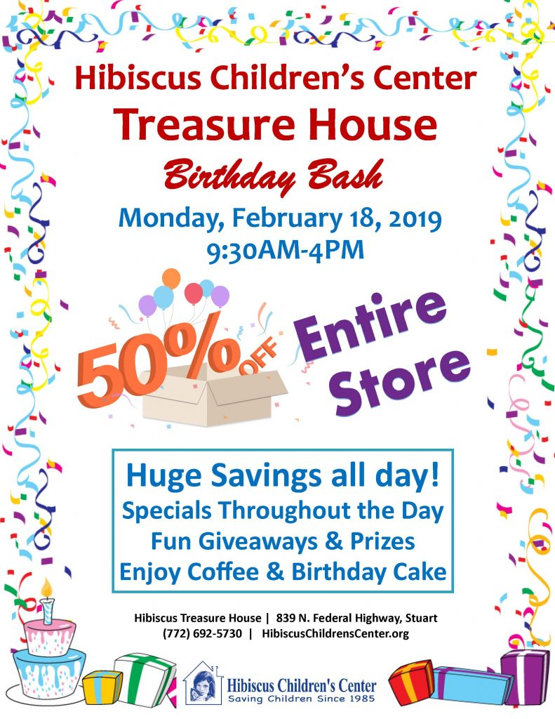 Thrift Store Bday Bash Flyer