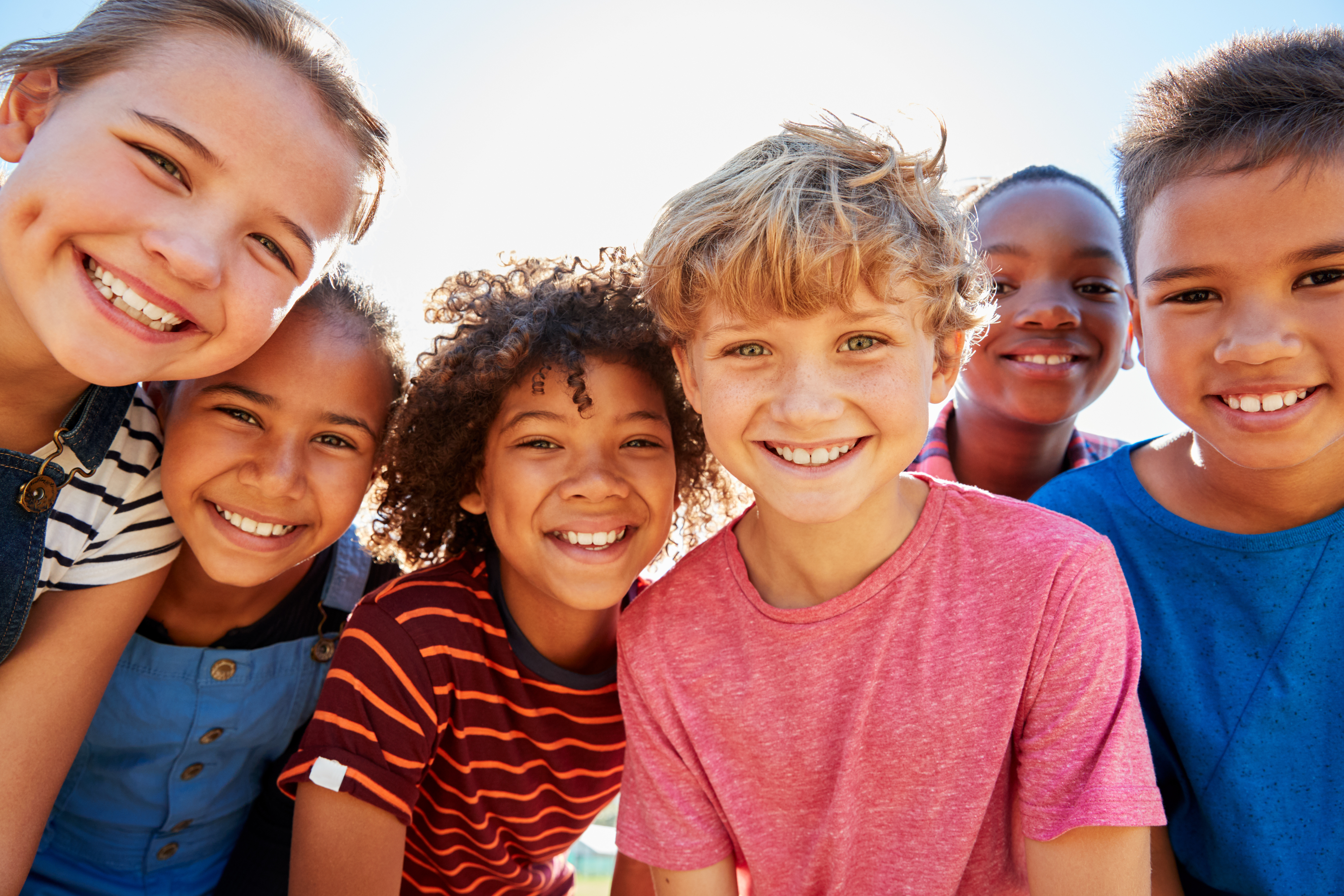 smiling kids stock photo